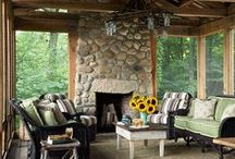 Living the Porch Life / Ideas for comfortable and cute furnishings for the Porch.