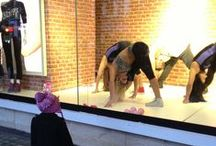 Get fit and fabulous / We we're excited to have dancers from Pineapple Studios in our Oxford Store window!