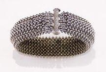 A ~ Beaded Bracelets V ( wide A ) / by Tina Smith