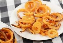 You want FRIES with that? / Fries for sides, and tots and puffs, wedges and rings - mostly french fries!