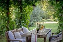 Dining Alfresco / Beautiful outdoor surroundings for enjoying a lovely meal.