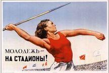 Soviet Poster / Poster art from the Soviet Union. Soviet propaganda