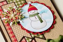 Cards: Christmas / A collection of handmade Christmas cards and tags.