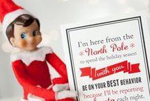 Christmas: Elf on the Shelf / Elf on the shelf ideas for Christmas