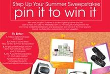 "Step Up Your Summer Sweepstakes / Enter our ""Step Up Your Summer Sweepstakes"" from now until August 31, 2014 for a chance to Win What You Pin! (Up to $500 value.). How to enter: Must follow @vitaminshoppe on Pinterest. Create a board title ""Step Up Your Summer Sweepstakes"". Pin items from this board to your board that you would use to get in your best shape this summer. All repins must include the #VSsummersweepstakes in the caption/description box. Send us a link to your board to socialmedia@vitaminshoppe.com  / by The Vitamin Shoppe"