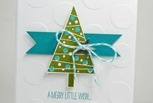Stampin Up: Festival of Trees / Stampin' Up! Cards Festival of Trees and coordinating tree punch. Christmas Cards.