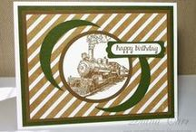 Stampin Up: Masculine Cards. / Stampin' Up! cards created with Traveler and other masculine stamp sets,