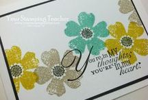 Stampin Up: Flowers, Floral / Handmade Cards. Stampin' Up! Flower Shop, Pansy Punch, Mixed Bunch, and other Floral stamps