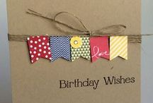 Stampin Up: Pennants and Banner Cards / SU cards created with Pennant and Banner stamps, punches and framelits - Stampin' Up!