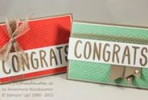 Stampin' Up! - Alphabet Stamps / Cards Made with Stampin' Up! Layered Alphabet Stamp Set, Larger Than Life Alphabet Stamp Set and Letter Thinlits Dies. / by Diana Carr - Stampin' Up! Demonstrator