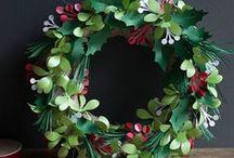 DIY: Wreaths / Handmade Wreaths. Paper Wreaths.