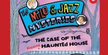 The Milo & Jazz Mysteries / Milo & Jazz are real detectives–in training, that is. When they send away for a Super Sleuth kit from the mysterious ace detective Dash Marlowe, it's one adventure after another for Milo & Jazz! With a little help from Dash, the two friends hone their detecting skills as they race to solve their cases and save the day!  A chapter book series for ages 7-11.