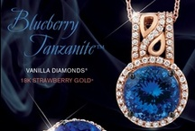 2014 Color Trend - Azure Blues™ / From the Le Vian 2014 Fine Jewelry Trend Forecast...Blues take a bold turn with the deeper Azure Blues™ including Blueberry Diamonds® in Le Vian Exotics™ as well as the blues of Cornflower Ceylon Sapphires™ from Le Vian® and the deep bluish purples of Blueberry Tanzanite™ from Le Vian Couture®.  Blackberry Diamonds provide the perfect accent.