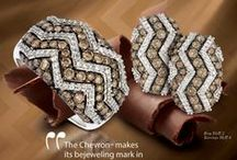 """2015 Design Trend - Chevron™ / """"The Chevron™ makes its bejeweling mark in fine jewelry design in 2015 with unique twists of geometrical interest revealed in each look.""""  Eddie LeVian"""