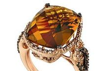 "2015 Color Trend - Caramel Quartz™ / ""Caramel Quartz™ brings an earthy sweetness to fine jewelry with a warm hue that reveals sparks of orange, yellow and brown. This sophisticated neutral gem pairs perfectly with fashion's camel and brandy flavors providing dashing monochromatic sparkle.""   Eddie LeVian"