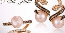 2017 Color Trends of the Year: Blush™ / Fashion has pinks and peaches and Le Vian® has Blush™ - the color trend that brings together the peachy pinks of Peach Morganite™ and Angel Skin Coral™, the blushing Neopolitan Opal™ and Strawberry Gold®. The looks for 2017 include big and bold center stone styles, plus Bi-Color™ and Movement™ trends.