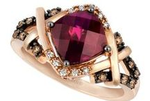 """2016 Color Trend: Bordeaux Wine™ / """"Passionate reds rule the runway and fine jewelry with deeper, earth-toned shades leading the way including the sweet crimson blush gem,Raspberry Rhodolite®."""" Eddie LeVian"""