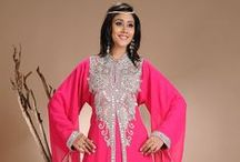 Colorful Kaftans / This Eid, invest in a colorful, embellished Kaftan, to stand out among your friends and family, only with Cbazaar's new collection of Georgette Kaftans!