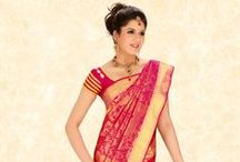 The South Indian Bride / Cbazaar's new collection of attractive, yet traditional saris for the South Indian bride.