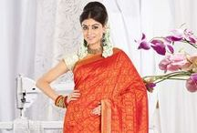 Silk Sarees / Magnetizing traditional silk sarees in festive colors.Shop this collection at www.cbazaar.com