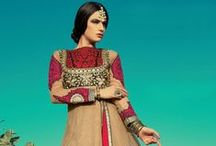 Glamorous Anarkalis / An alluring & refined collection of Glamorous Anarkalis  with diverse weaves and intricate embroideries in a sophisticated color palette. All pins are shopable on cbazaar.com
