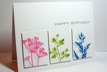 Cards I Like / Cards, from papercrafters that I like for the layout, design, or technique ideas