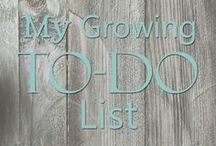 My Growing To-Do List