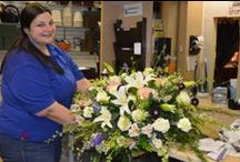 Funeral Floral Designs / Creating funeral floral designs is both rewarding and humbling. Knowing that you can have such an impact on someones life while they are grieving.... well, it's why we do what we do.