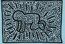 """Keith Haring - Pop Art Américain - Galerie Laurent Strouk Paris / Keith Haring (1958 - 1990) est un artiste américain appartenant au mouvement de la Figuration Libre. il s'intéresse à la sémiotique et utilise la ligne comme fil conducteur de son discours.  Son oeuvre, qui s'articule autour de lignes géométriques et de symboles, traite de la violence, de la sexualité, du racisme. Haring, en ouvrant son """"Pop Shop"""" à Soho et en déclinant des objets dérivés de son oeuvre a voulu rendre l'Art accessible à tous."""
