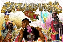 STEAMFUNK!! / A philosophy or style of writing that combines the African and / or African American culture and approach to life with that of the steampunk philosophy and / or  steampunk fiction.