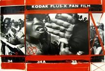 William Klein  / LA galerie Laurent Strouk fait eccho à la Tate Moderne et présente des contacts peints de William Klein