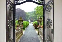 Outdoor gates and doorways