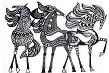 Chevaux : Art, peintures, dessins - Horses art