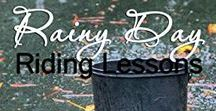 Rainy Day Riding Lessons / How do you keep those riding lesson appointments when you don't have anywhere for them to ride?   If you'd like to contribute to this board with pins that add to the ideas of horsey things for kids to do on rainy days, follow me, and email me at My@45MinuteMarketing.club.