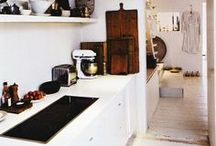 A/D * Small kitchens / how to fit a big kitchen into a small space. / by Emily Schriebl Scott