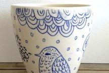ceramic - blue and white / by Garimo Cockova