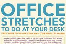 Gesund im Büro / Im Büro fit und gesund bleiben! Ideen für eine gesunde Ernährung sowie Tipps für Bewegung im Job-Alltag!