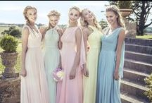 Kelsey Rose 2015 / Dreamy and wistful, this is a collection that truly reflects the needs of the modern bridesmaid.   The versatile 2015 collection uses a mixture of floaty chiffons and lightweight tulles along with some sparkling jersey, with a focus on sugary pastels from soft pink to duck egg blue.