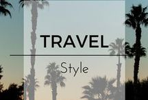 Travel Style / Inspiration on what to wear when traveling. Sample outfits to where on your next flight and packing list inspiration for fashionable people.