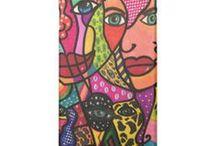 Capa de celular / Capa de celular personalizada com desenhos da coleção Leila Cordeiro Arte & Cores