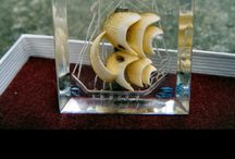 Vintage Lucite brooches / Nice vintage brooches. I collect reverse carved ones.