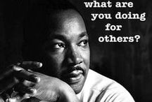 MLK Day / Nonprofit activities and items related to the annual Martin Luther King, Jr., Day