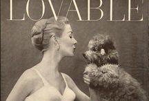 Vintage poodle adverts