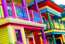 Colourful Quarters / Colotful homes and public spaces / by LisaTheAppChick