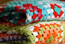 stitchery: yarn / crochet and knitting, with a strong showing of granny squares