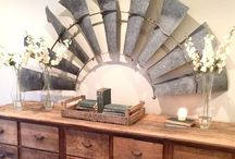 My Farmhouse In The City / WELCOME, FRIENDS!!  Farmhouse rustic, & wood warms up your home~ add a dash of metal &  overhead beams, a few vintage chippy pieces plus a dash of bling (crystals, glass, mirrors)..Bring your favorite book~