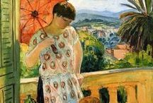 "Art - Henri Lebasque / In 1903, together with his friend Matisse and other artists, Henri Lebasque founded the ""Salon d'Automne"". In 1912, the Salon exhibited works by a group of artists, which, because of its distinct style, became popular as ""Les Fauves"" (wild beasts). / by Niki Dague"