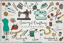 Sewing Projects {Graphic Inspiration} / Graphic inspiration for applique, quilt patterns. Font inspiration for embroidery.