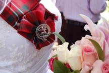 Scottish Lake Wedding / Fall wedding by mountain lake with Scottish accents