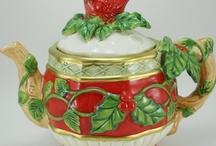 Tea pots and holders.